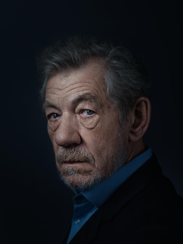 Sir Ian McKellen Rory Lewis Portrait Photographer
