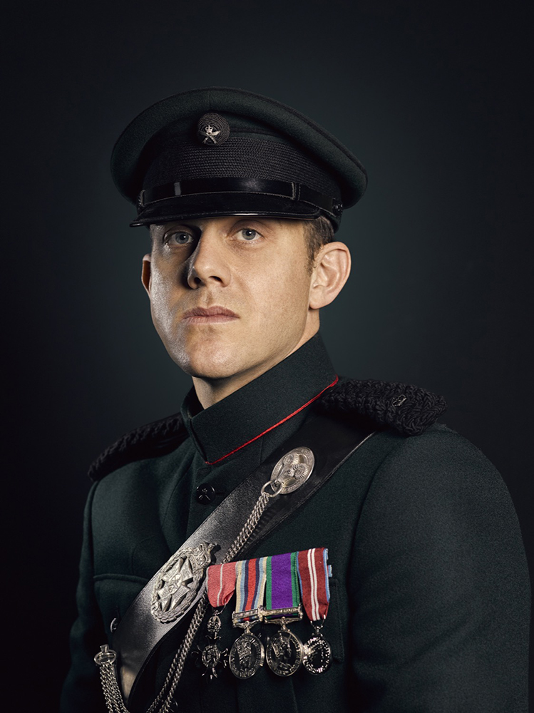 Major Andrew Todd 2nd Battalion Royal Gurkha Rifles Rory Lewis Military Portrait Photographer London