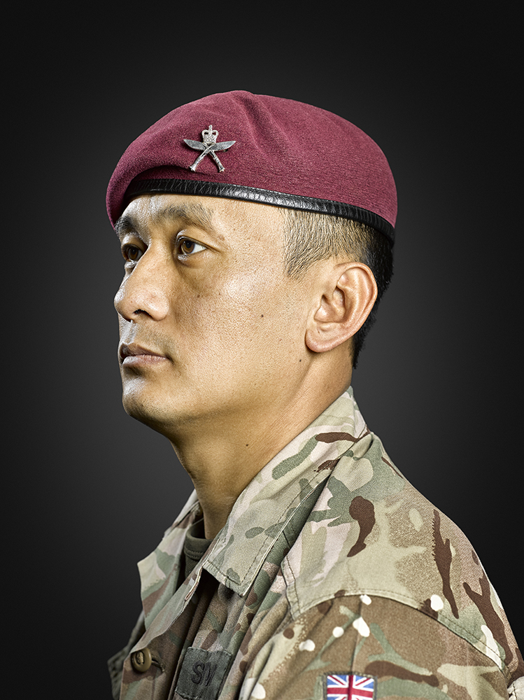 Warrant Officer Class 2,  Shiua Kumar Rai Rory Lewis Military Portrait Photographer London