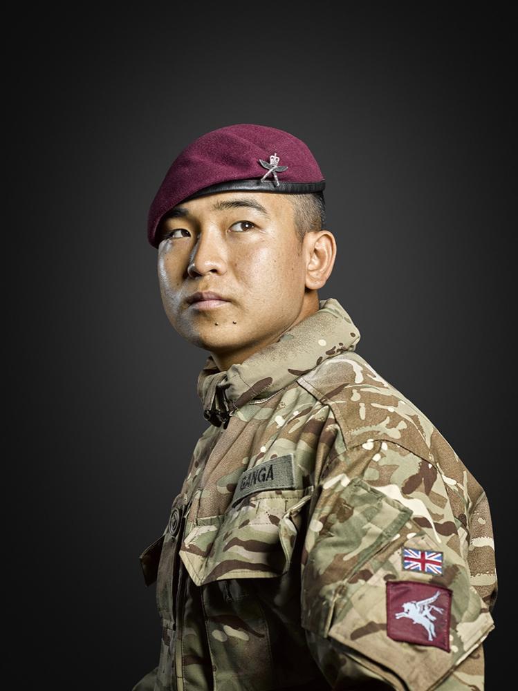 Rifleman Ganga Gurung 2nd Battalion Royal Gurkha Rifles Rory Lewis Military Portrait Photographer London
