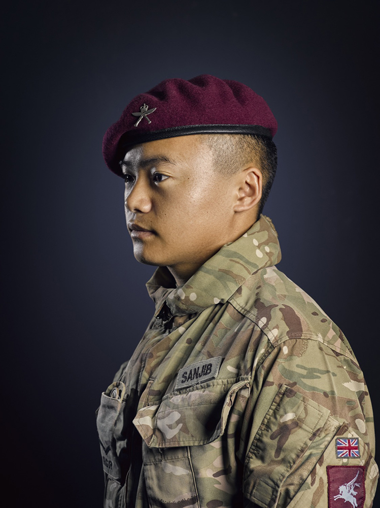 Rifleman Sanjib 2nd Battalion Royal Gurkha Rifles Rory Lewis Military Portrait Photographer London