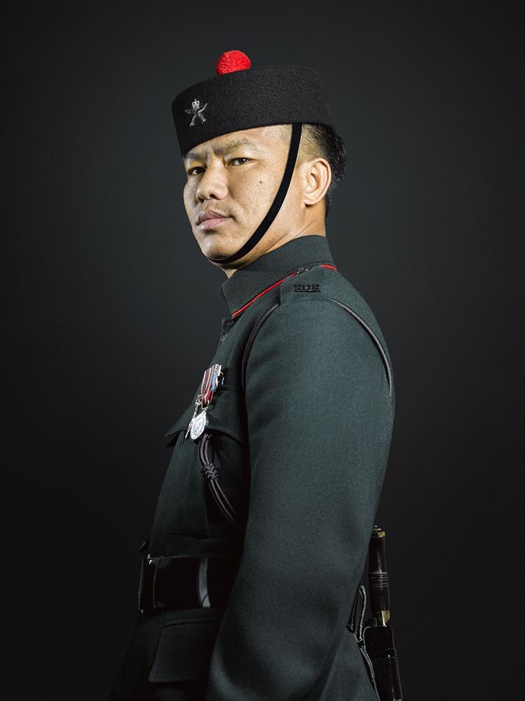 Sergeant Santosh Gurung, 2nd Battalion Royal Gurkha Rifles, Rory Lewis Military Portrait Photographer London