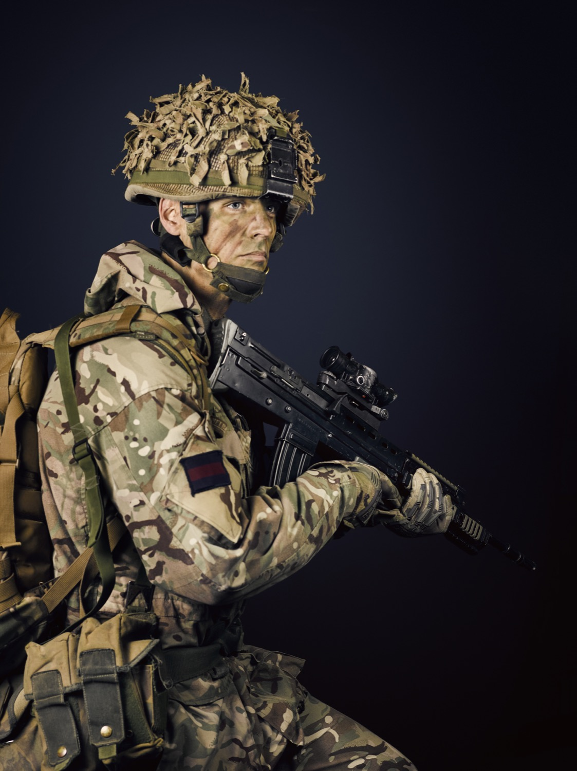 Corporal of Horse Mulholland Household Cavalry Mechanised Regiment (Rory Lewis Military Portrait Photographer London.