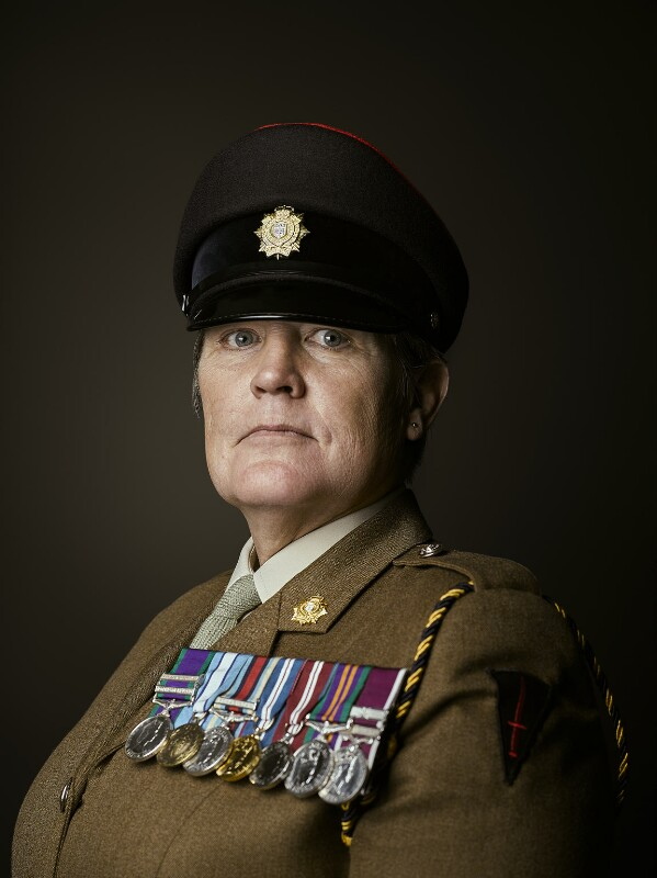 British Army Soldier, Warrant Officer Class 2 Deborah Penny Portrait Acquired by National Portrait Gallery London (Rory Lewis Photographer 2019)