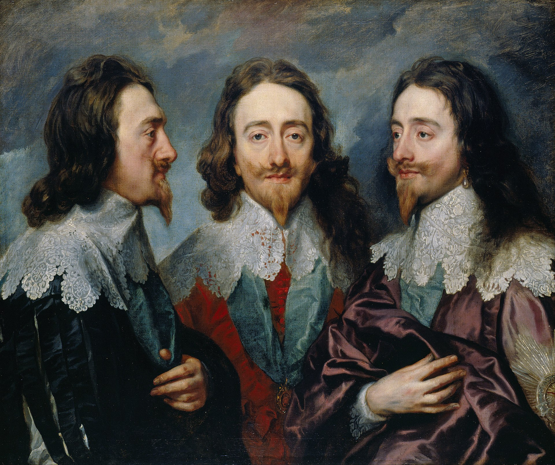 Charles I in Three Positions  (the  Triple Portrait of Charles I ) by Van Dyck, 1635 or 1636,  Royal Collection