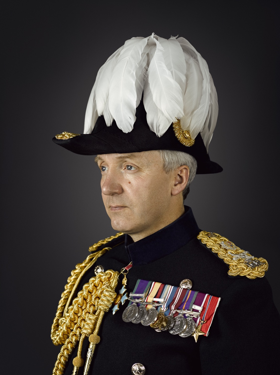 Major General Benjamin Bathurst CBE Portrait Sitting (Rory Lewis Photographer 2019)