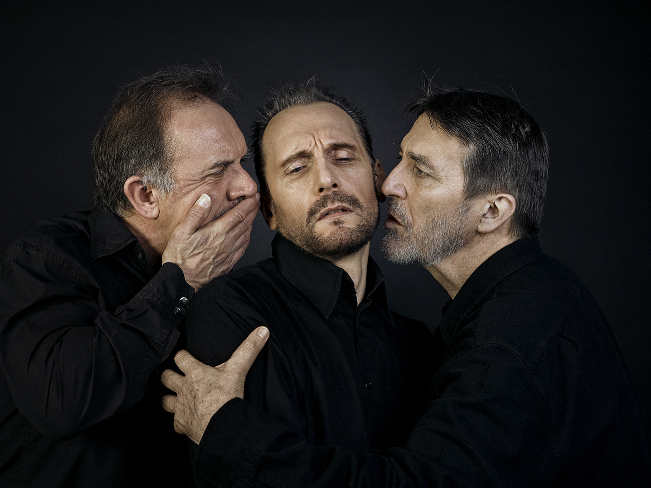 David Bamber, Julian Bleach, Ciarán Hinds (Caravaggio Recreation) Rory Lewis Photographer 2019