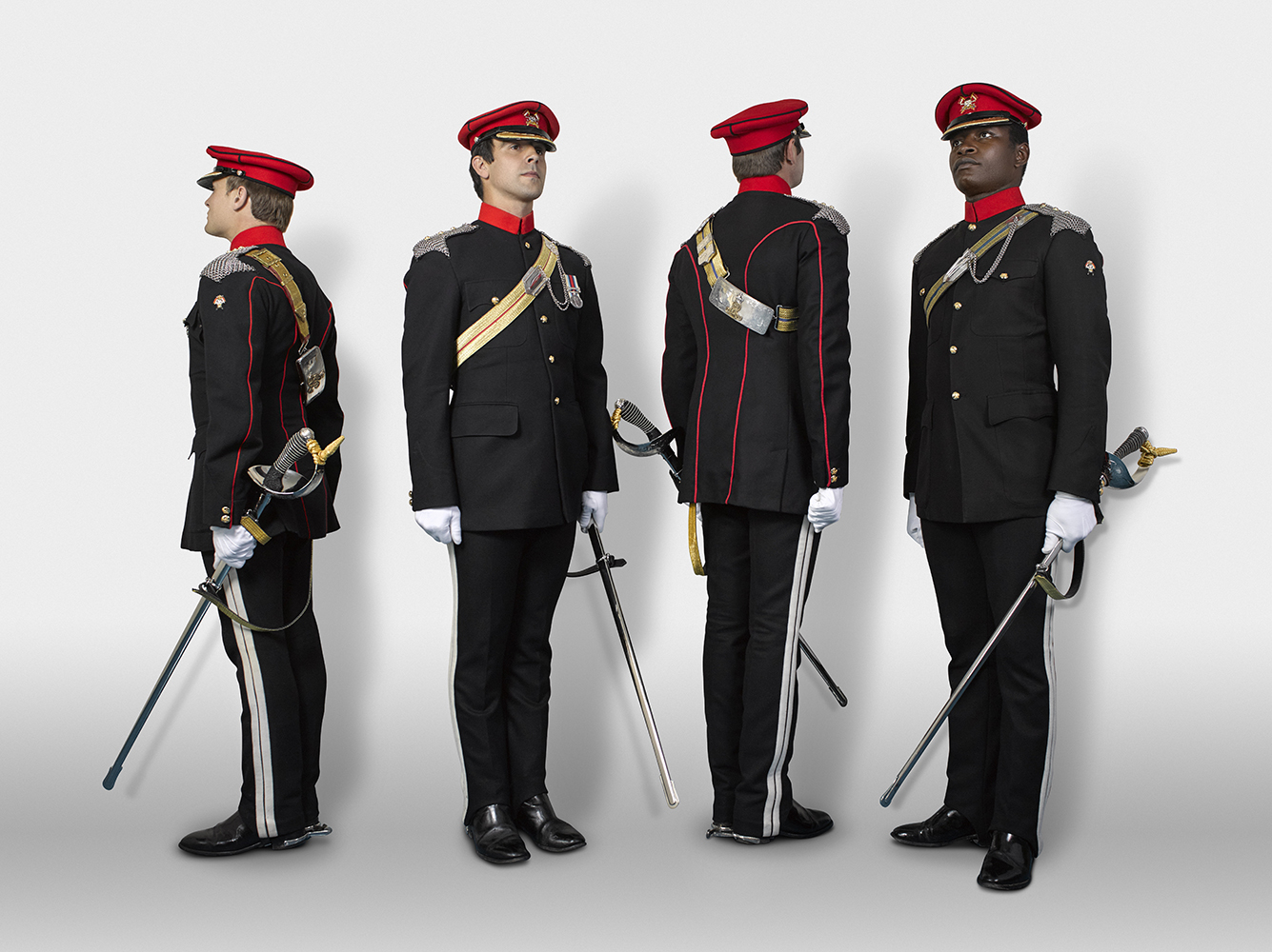 Captains, Humphreys, Prichard, White & Issac The Royal Lancers (Rory Lewis Military Portrait Photographer