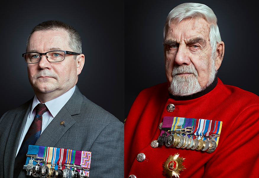 Peter Norton GC, Bill Speakman VC, London Portrait Photographer Rory Lewis