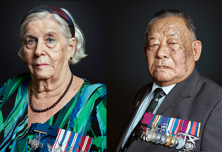 Margaret Vaughan GC, Rambahadur Limbu VC London Portrait Photographer Rory Lewis