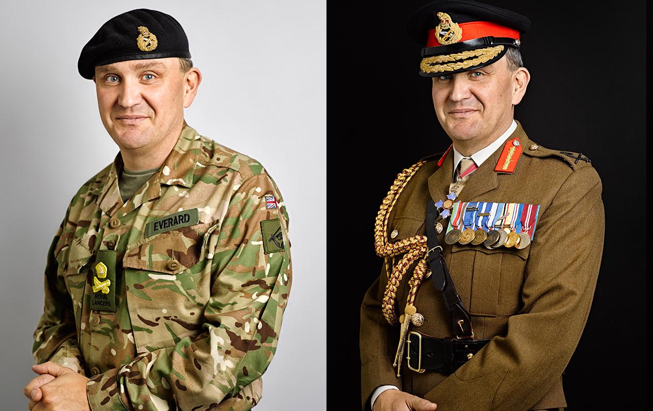 Lieutenant General Sir James Everard Portrait Sitting (Rory Lewis)
