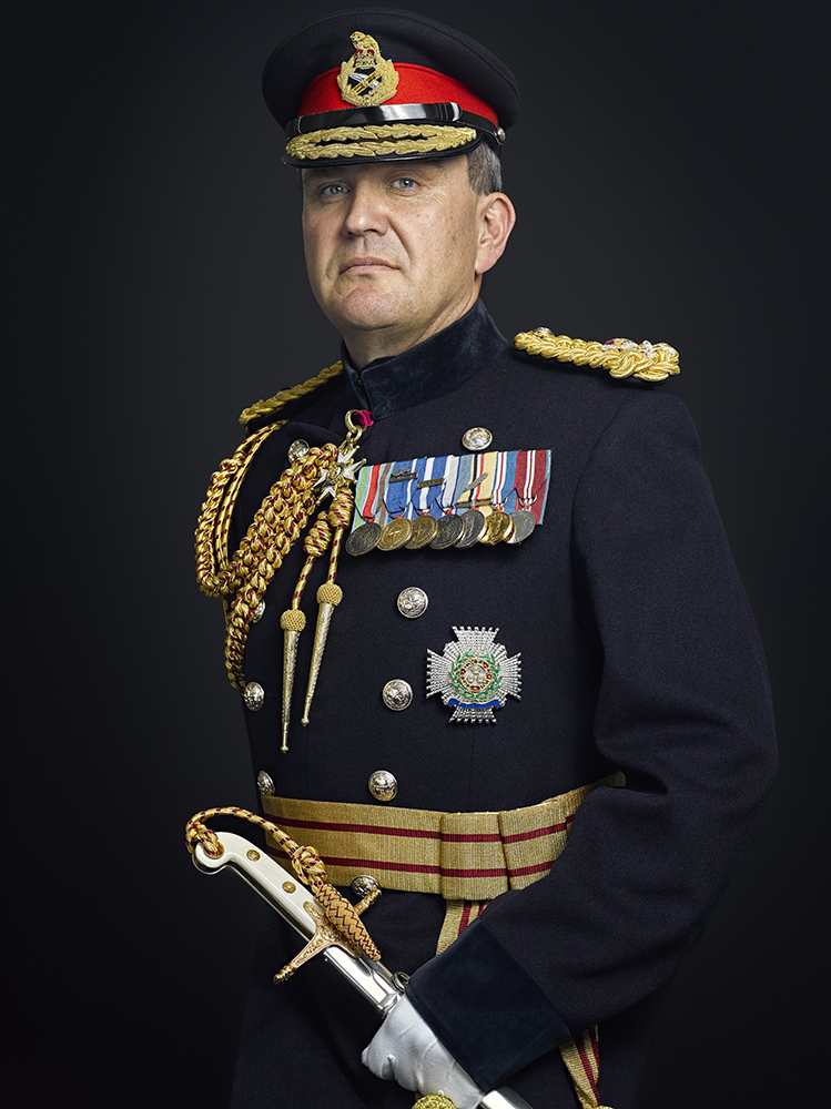 Lieutenant General Sir James Everard Portrait Sitting (Rory Lewis Photographer)