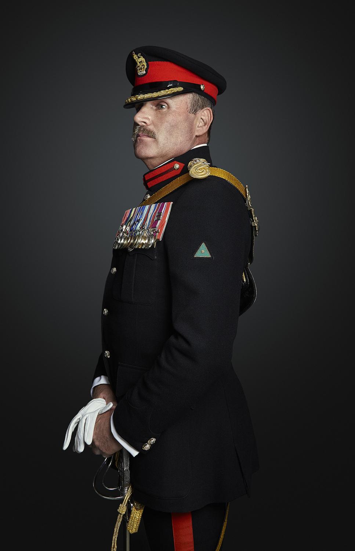 Brigadier Fitzgerald Portrait Sitting London Rory Lewis Photographer