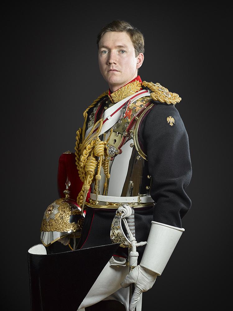 Officer of The Blues and Royals (Rory Lewis Royal Portrait Photographer London 2019)