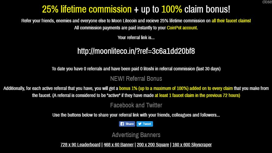 25% LIFETIME referral commissions!