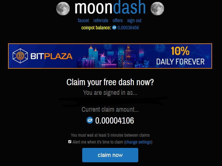 Moon Dash Faucet - (FREE CointPot Micro-wallet Needed