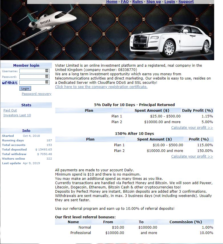 The first sentence should be enough to scare you miles away. Rolls Royce? Private jet? Same as example above. The returns are a lot more believable on this one but there are warning signs on this ad, too.