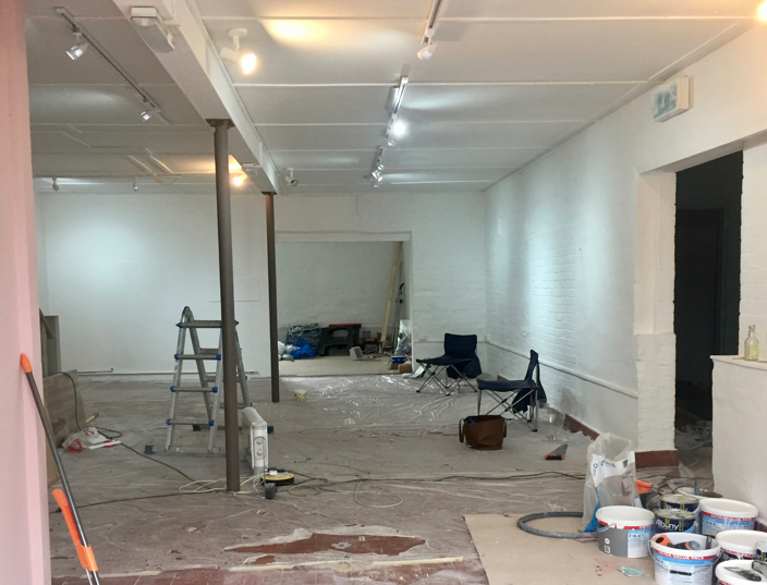 Our Boutique - We are currently a work in progress! Surrounded by paint pots and carpet samples, we are busy ordering furniture, choosing rails and trying to think of 101 things which will ensure our boutique is both beautiful and inviting.