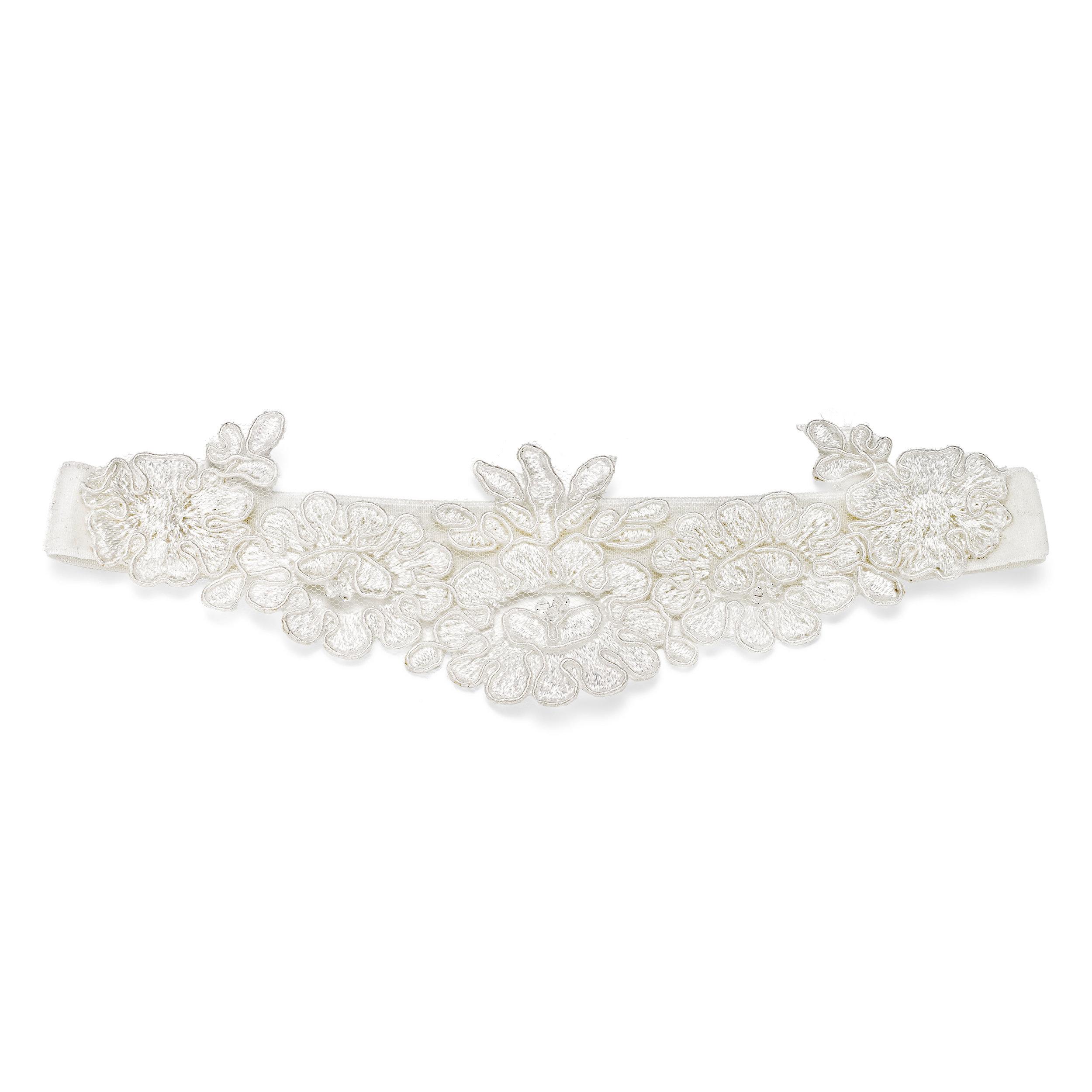 French lace and velvet wedding garter
