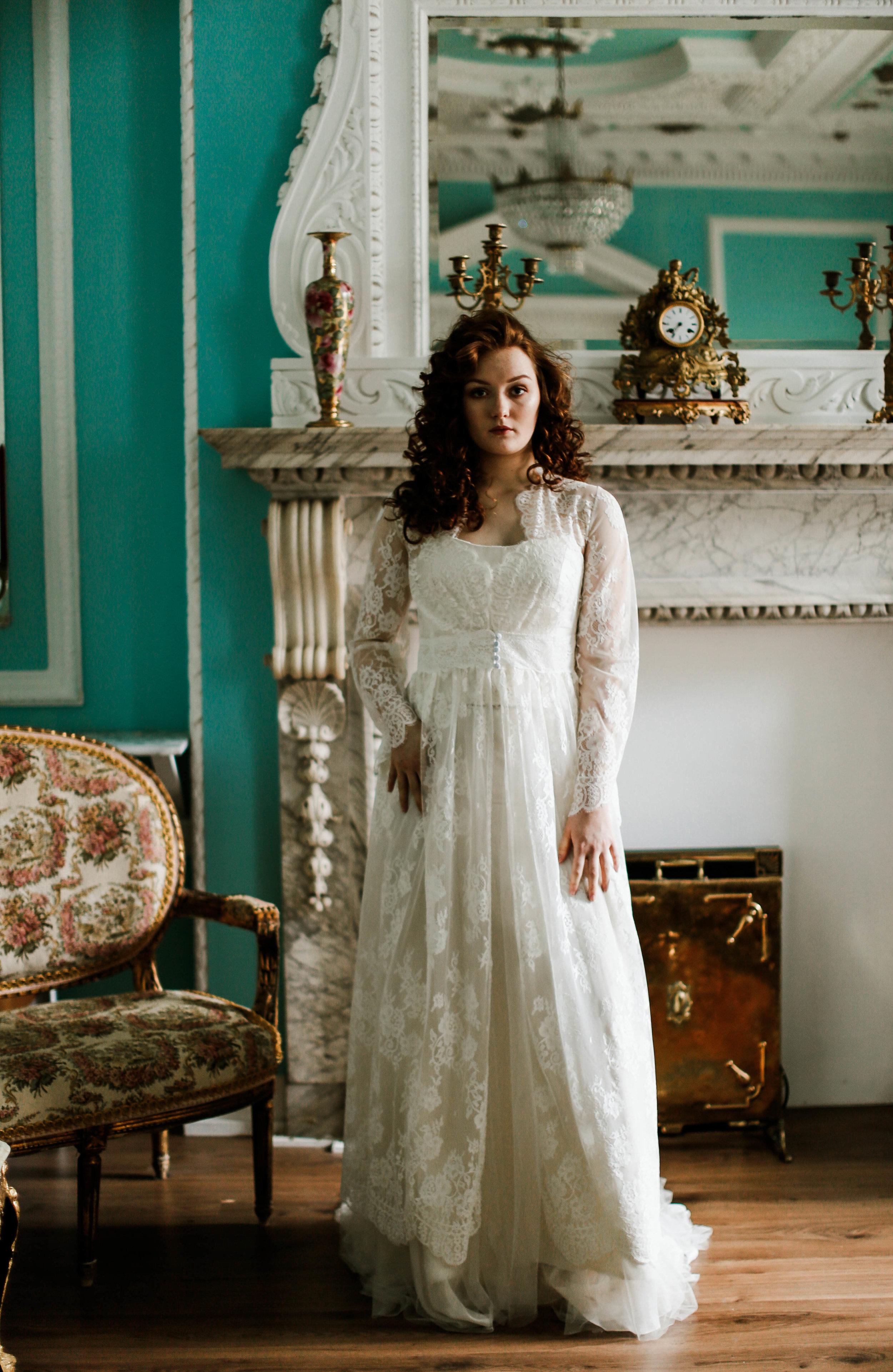 Couture wedding robe