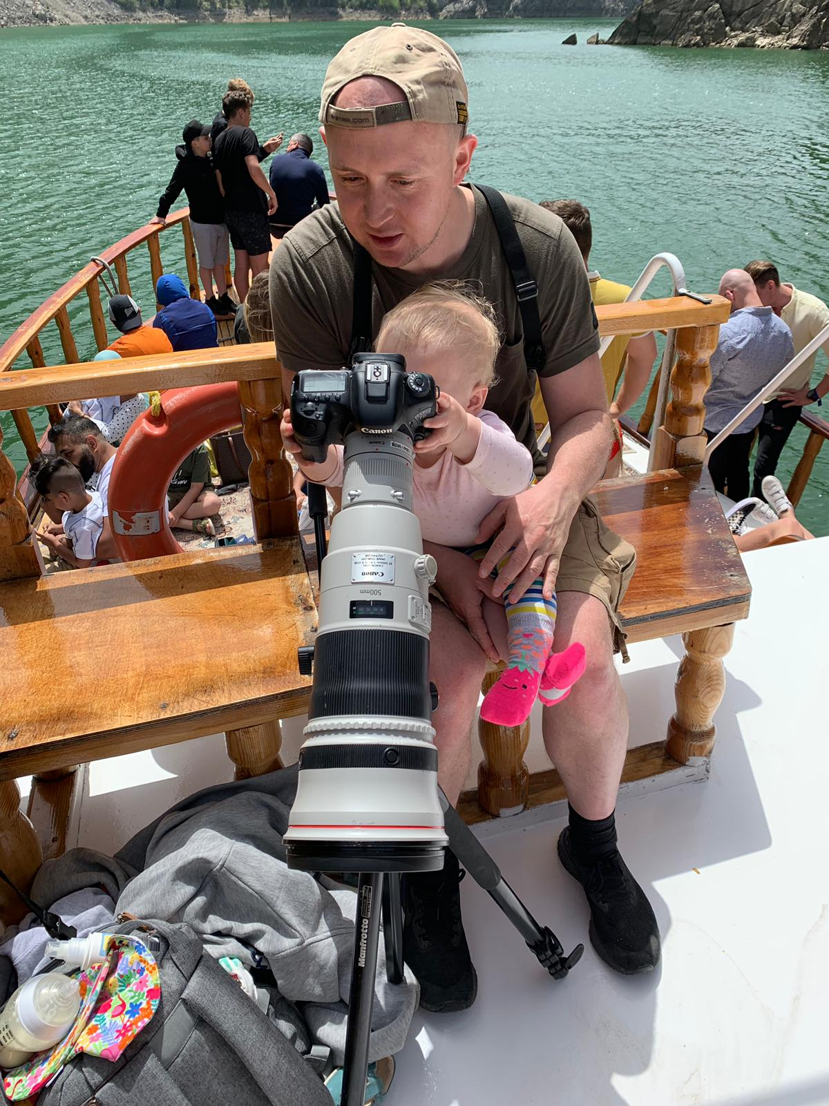 My daughter giving me a few photography tips