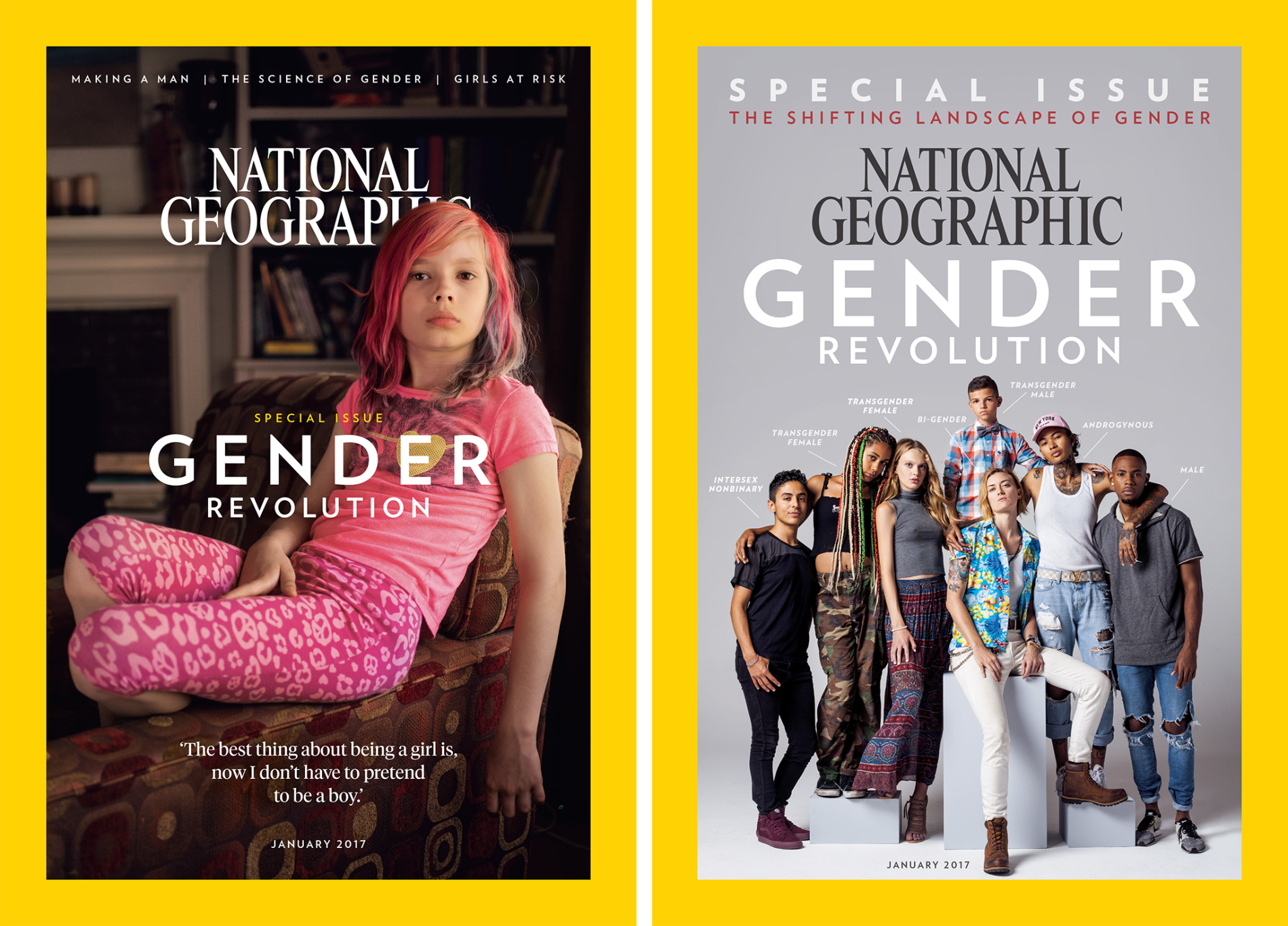 January 2017 Gender Revolution issue. Would NatGeo have told this story 20 years ago?