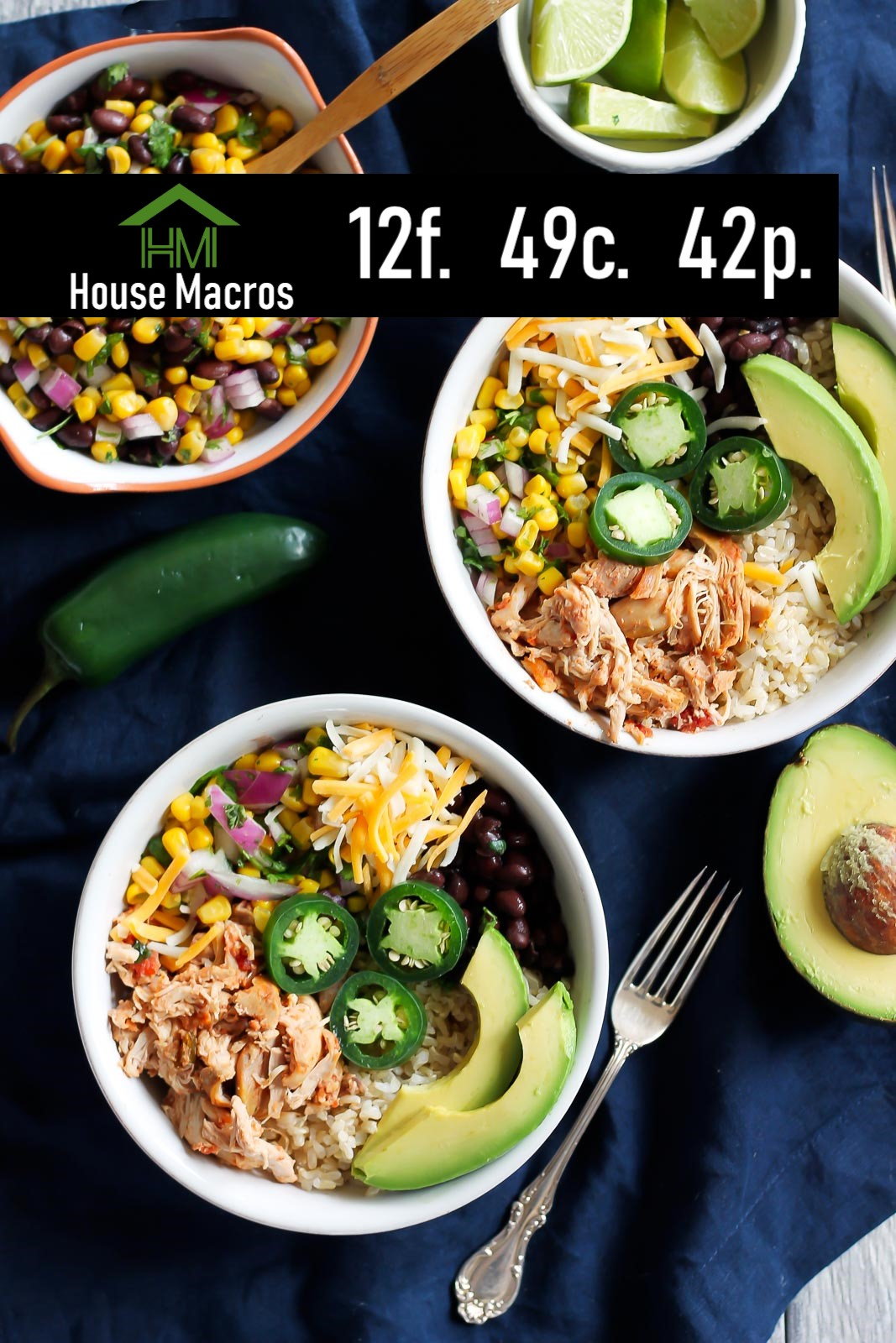Nutrition Information    Serves: 4    Serving Size: 1 bowl    Calories: 507 / Fat: 12g / Carbs: 49g / Protein: 42g