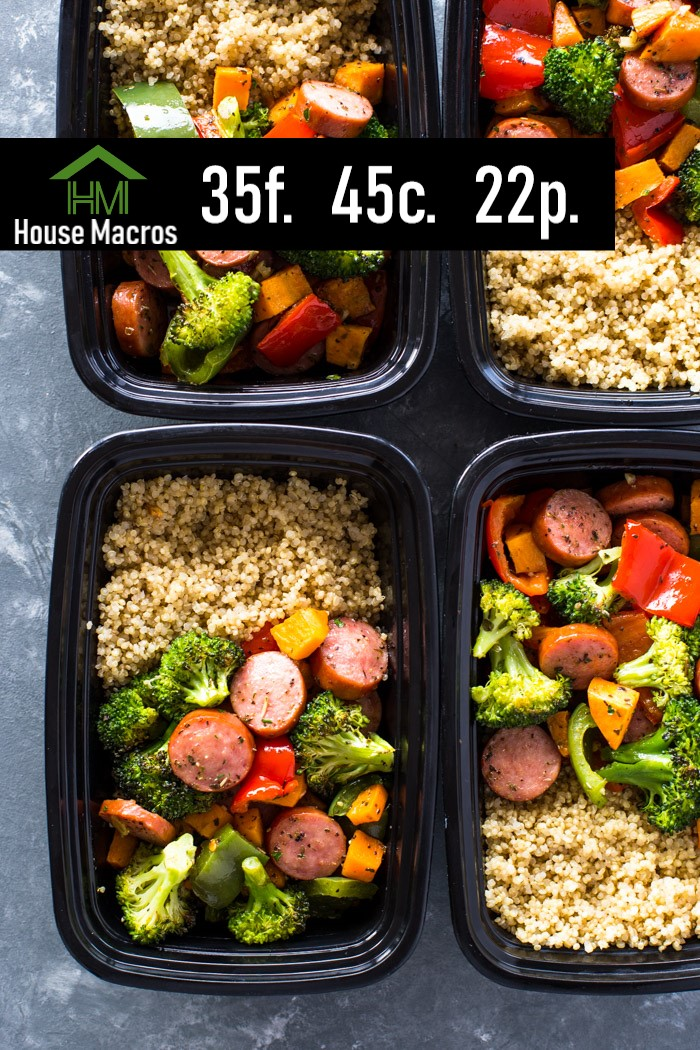 Nutrition Information    Serves: 4    Serving Size: 1 Bowl    Calories: 563 / Fat: 35g / Carbs: 45g / Protein: 22g