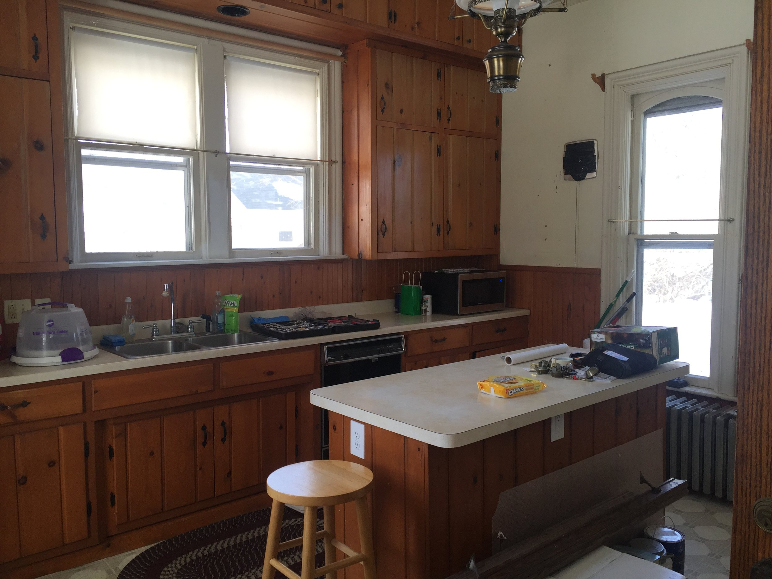 Prior to the remodel, the kitchen design didn't speak to its historic setting.