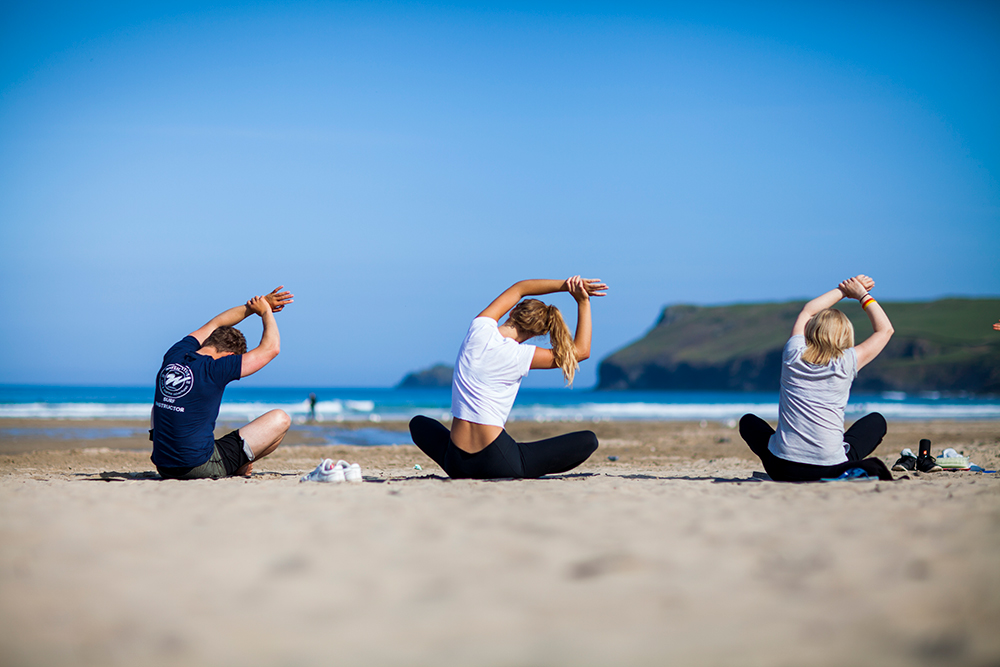 Beach Yoga - Rise and shine to a unique start to the day. Finding calm and strength in your body, whilst taking in the picturesque view of Polzeath beach. Instructors will lead you through a sequence of moves and postures, static and flowing to challenge your body, balance, strength and mind; before restoring calm to the sounds of the waves.