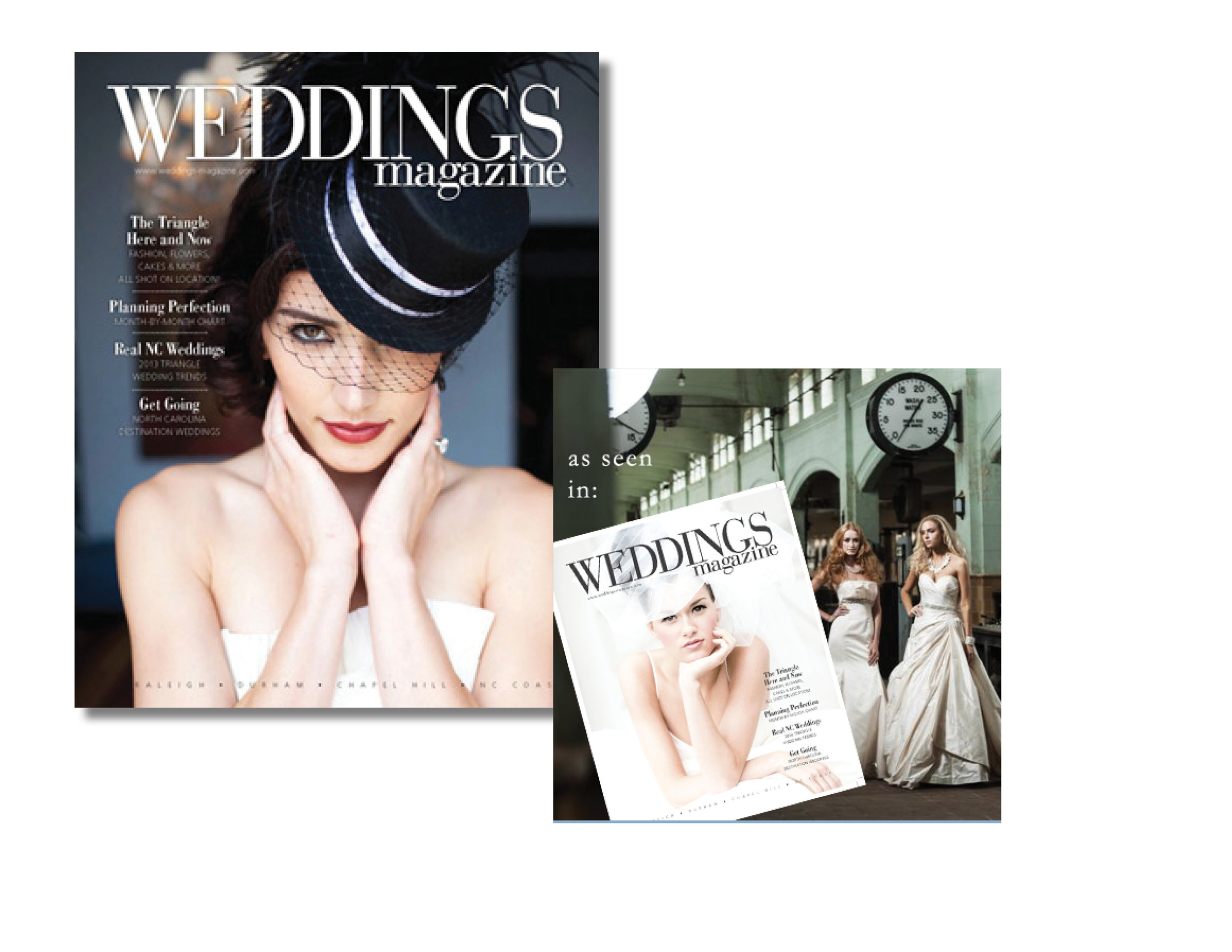 Styling - I provided on-location jewelry styling assistance for Weddings Magazine photoshoots.