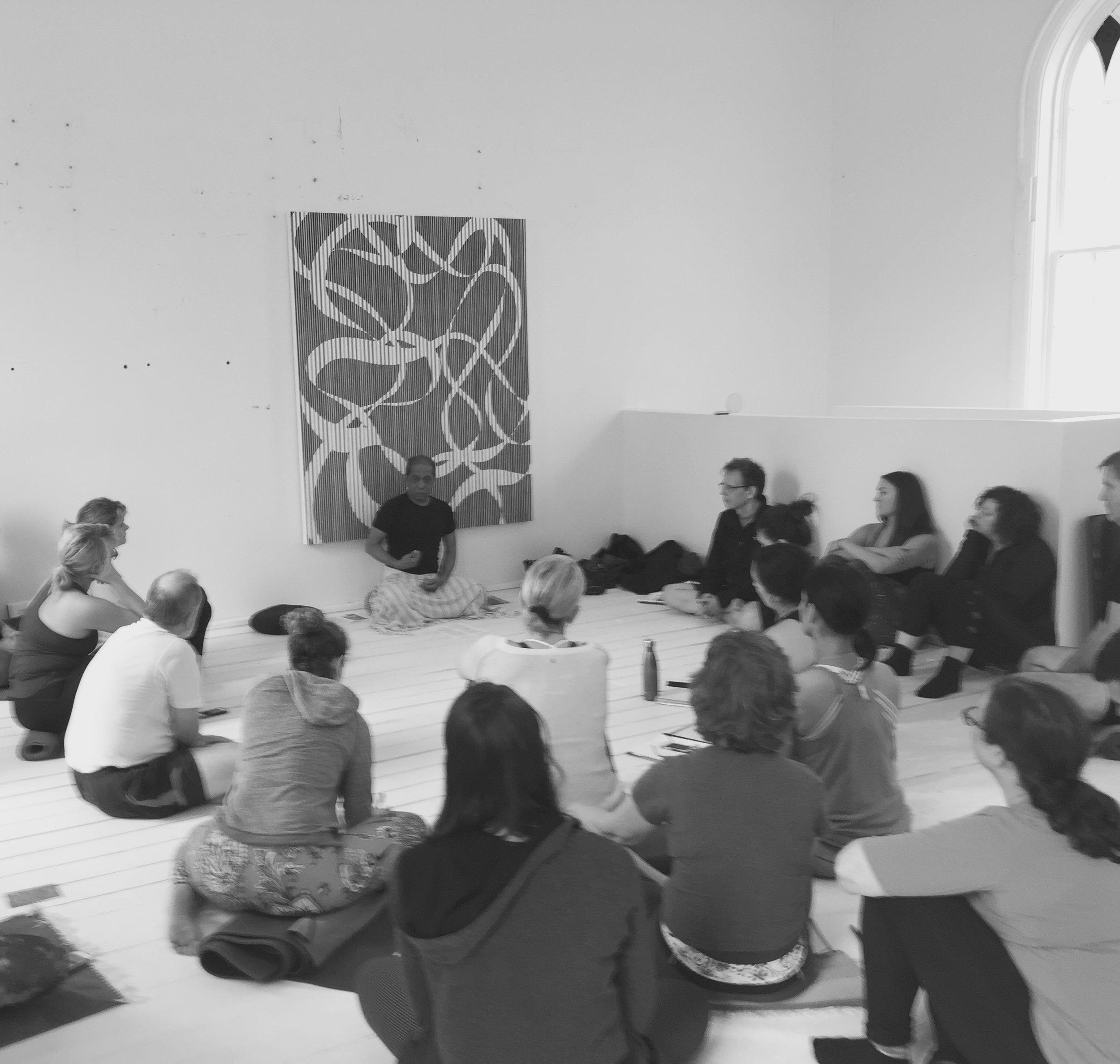 Manju Jois teacher training, Lunenburg, 2017