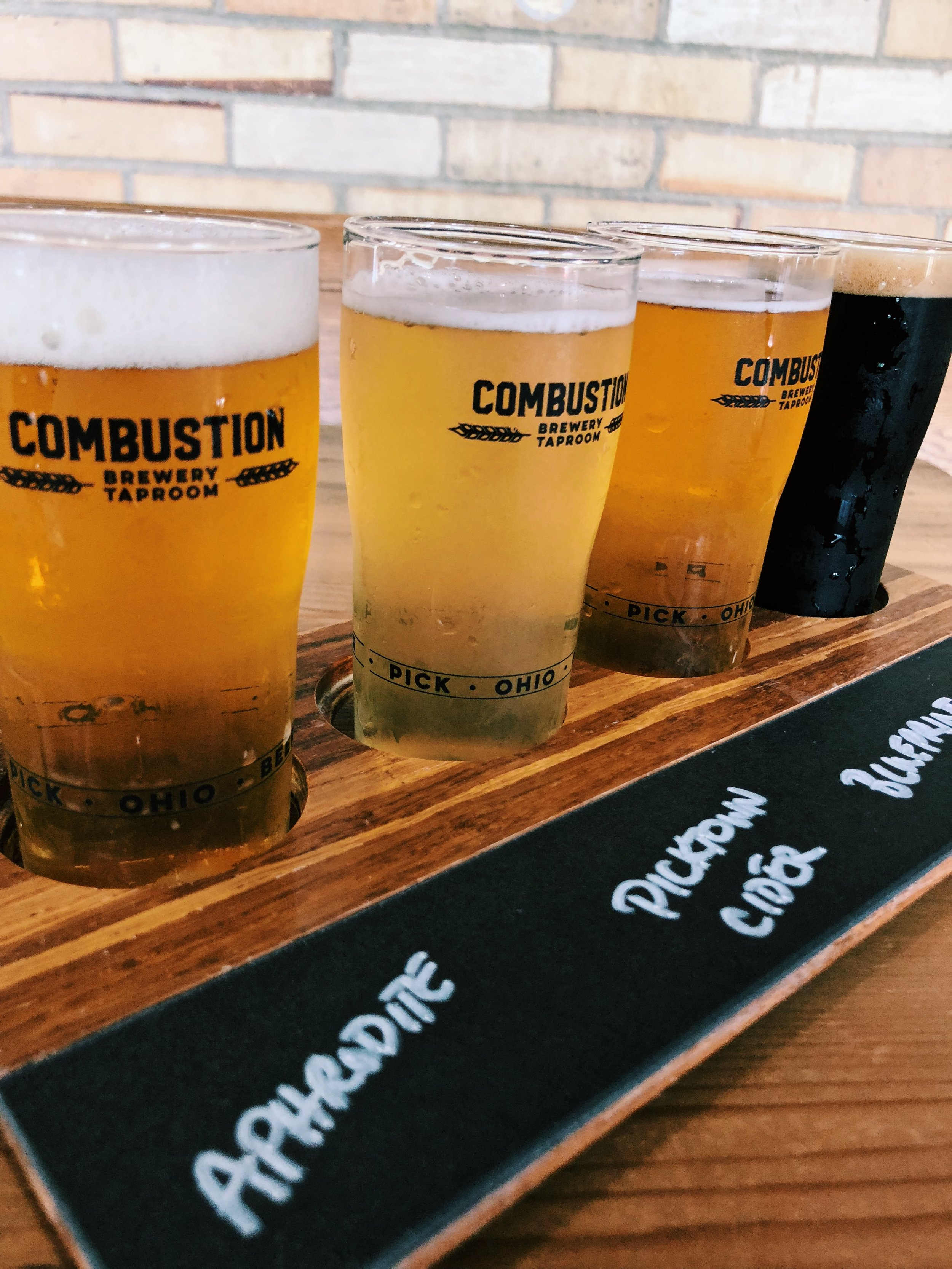 Beer Flight from Combustion Brewing