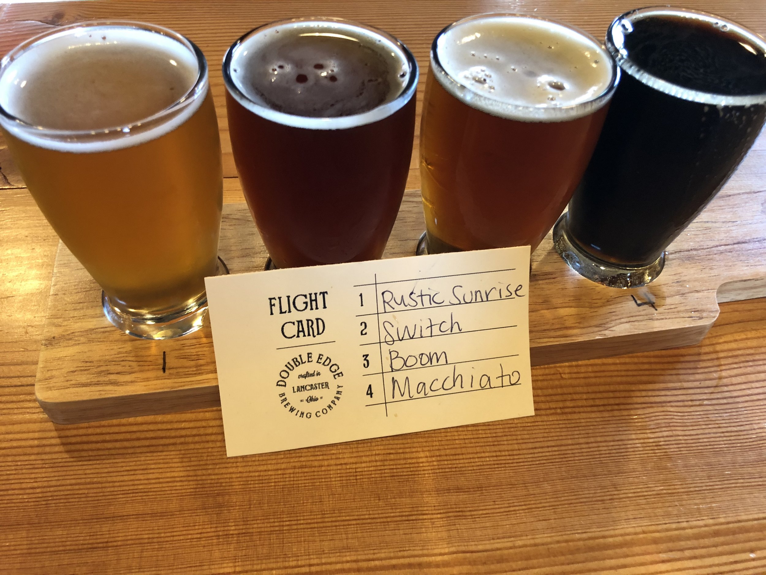 Beer Flight from Double Edge Brewery