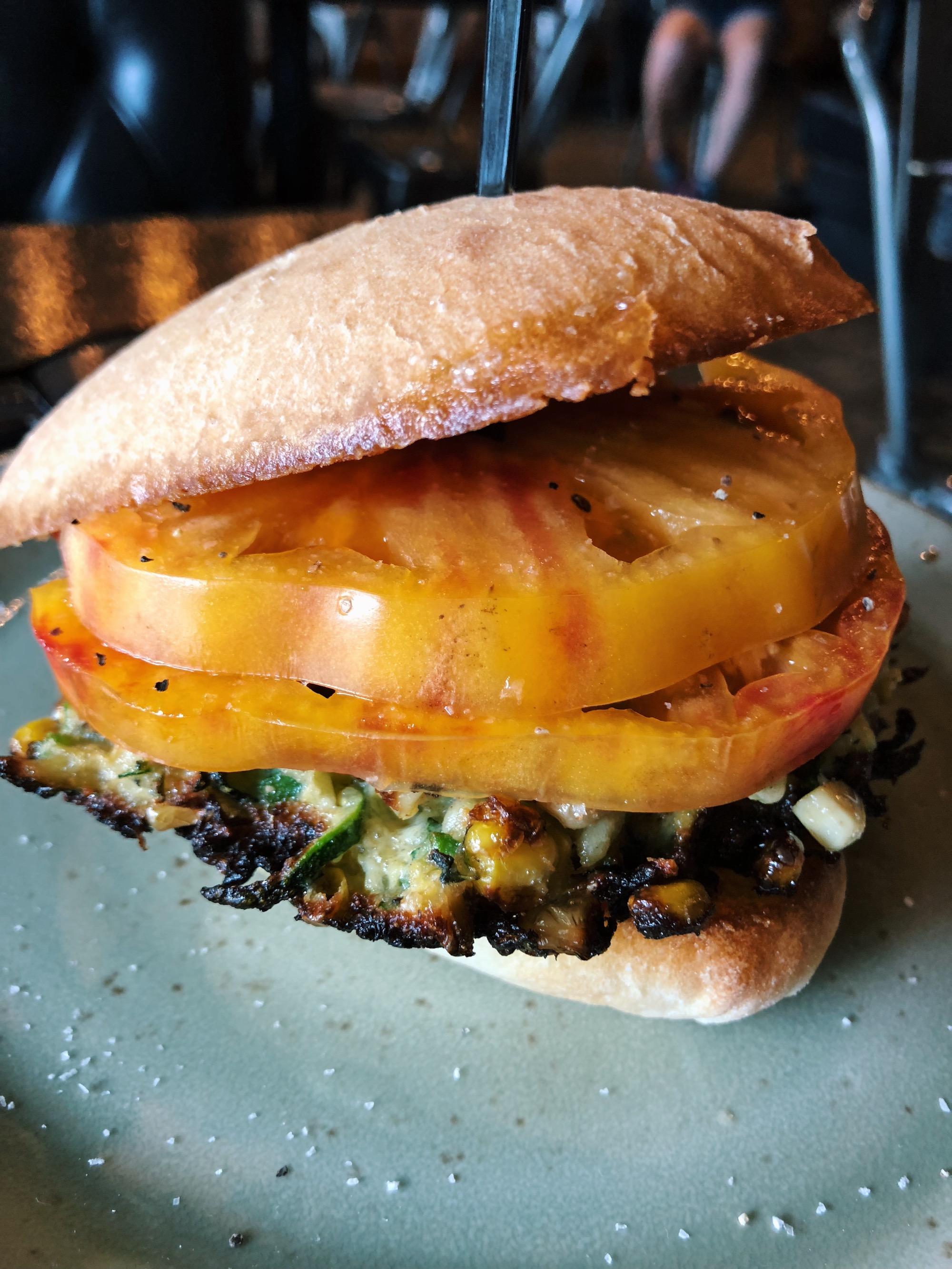Heirloom tomato sandwich (summer menu)