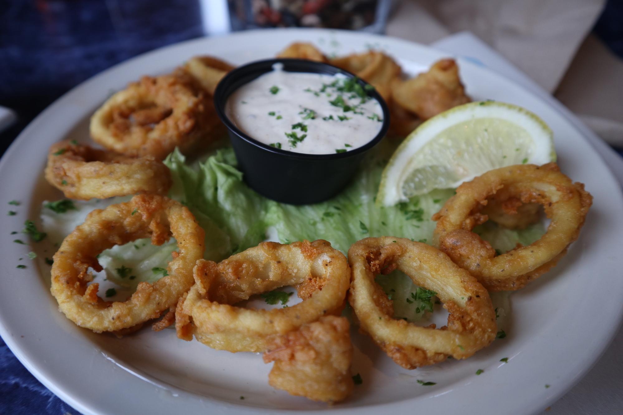 Calamari with Gyro Sauce