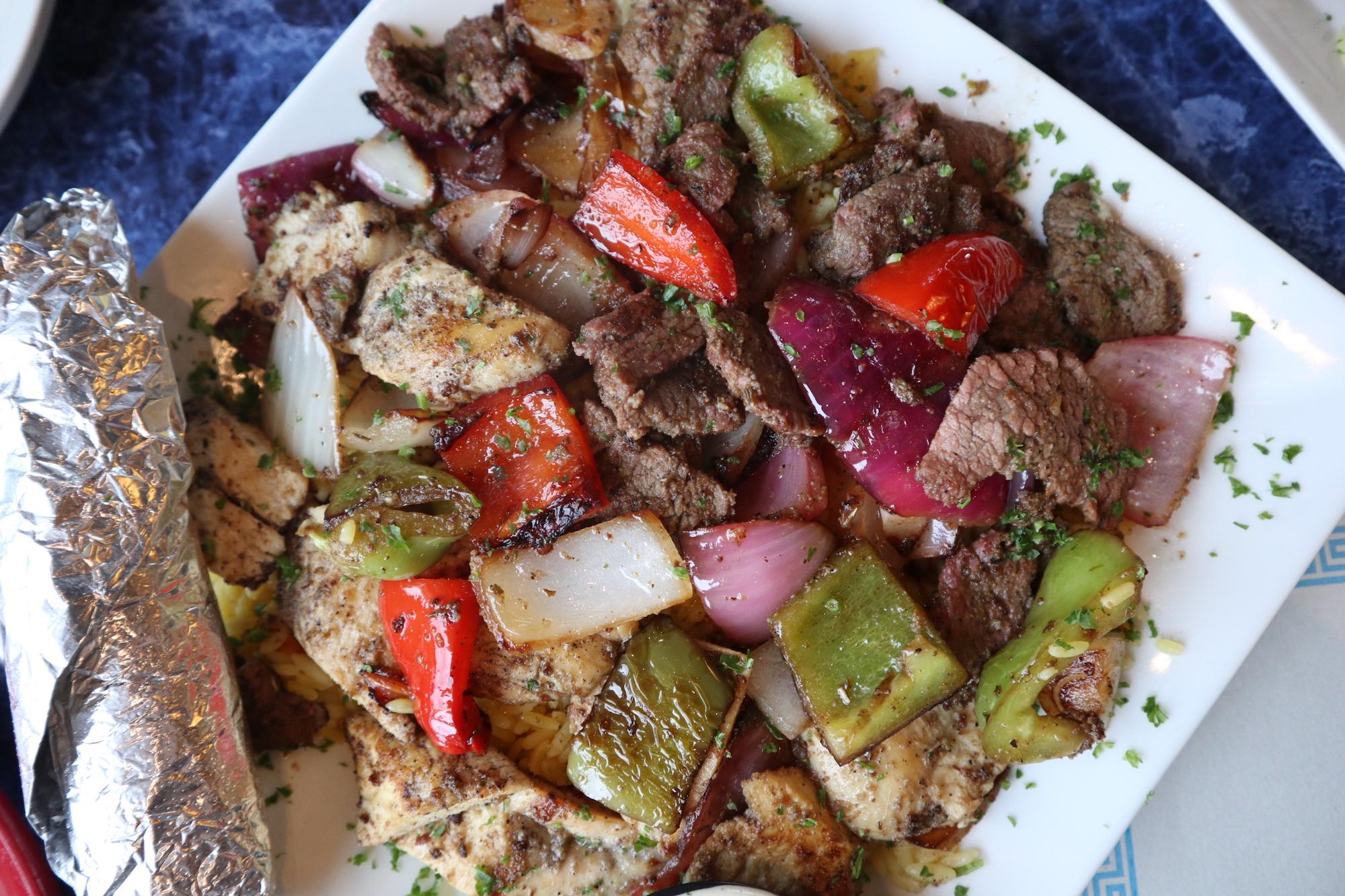 Chicken Kabob & Filet Tip Shiskabob