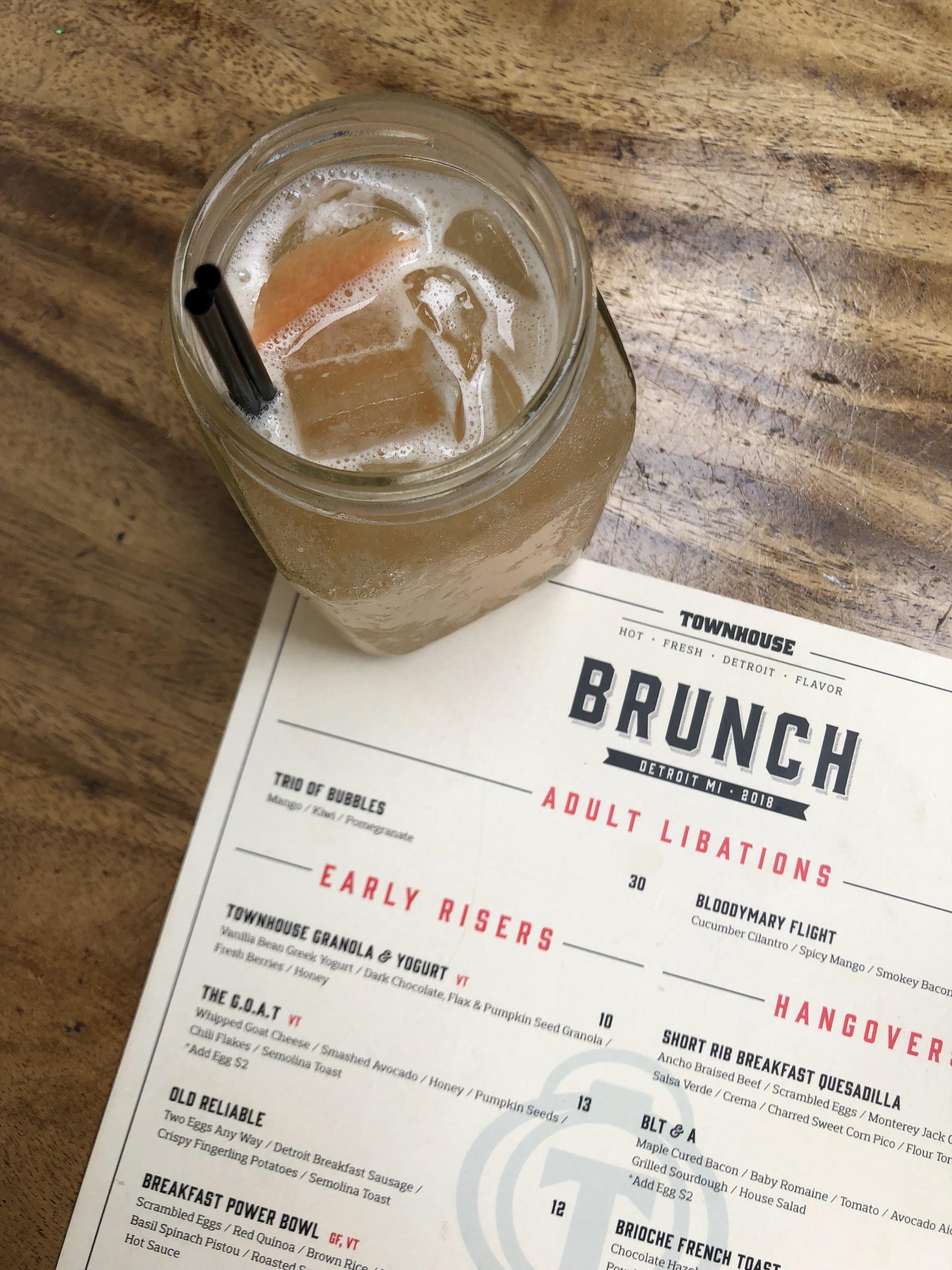 Brunch cocktails from Townhouse