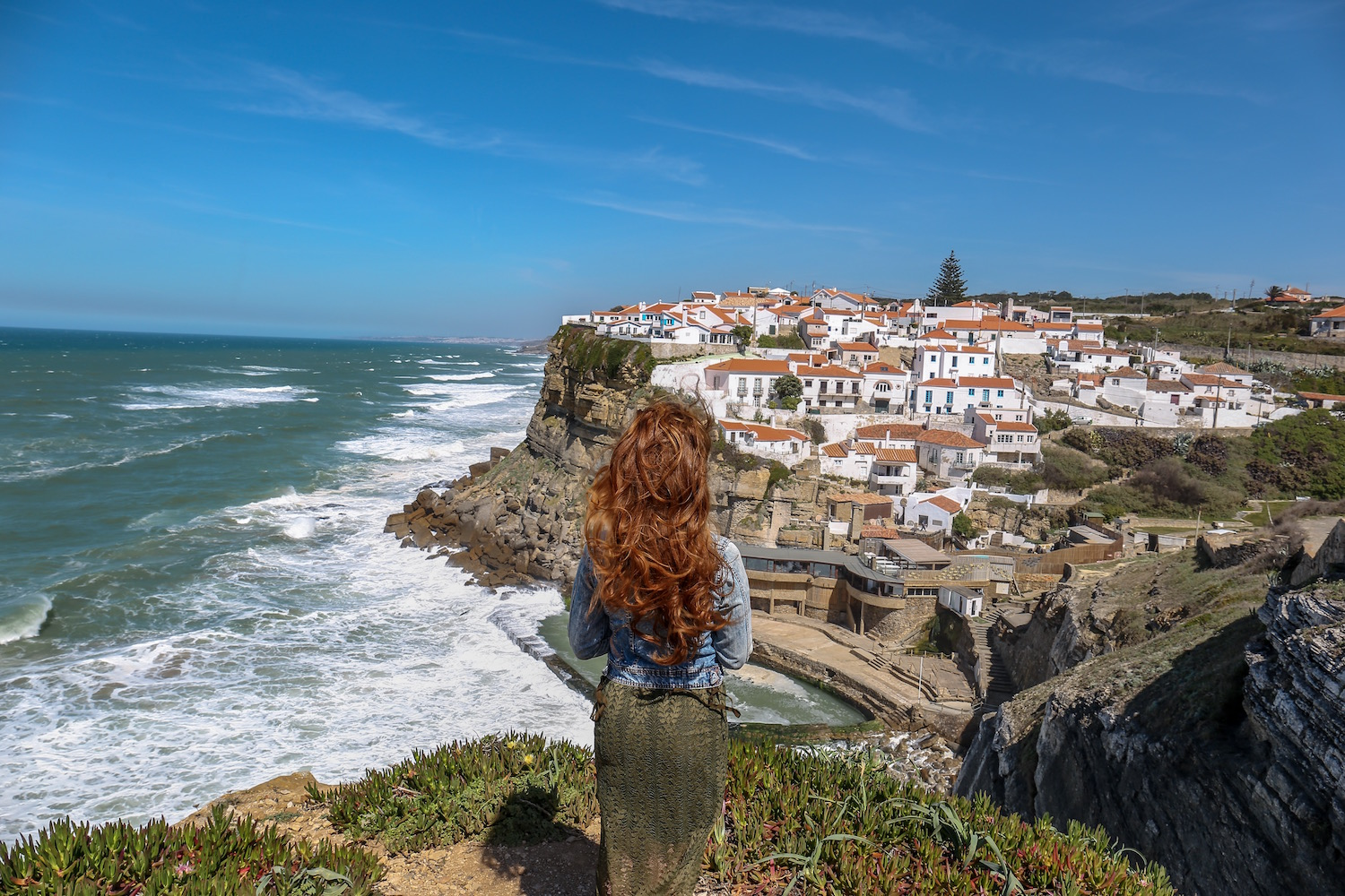 The beautiful views at  Azenhas do Mar