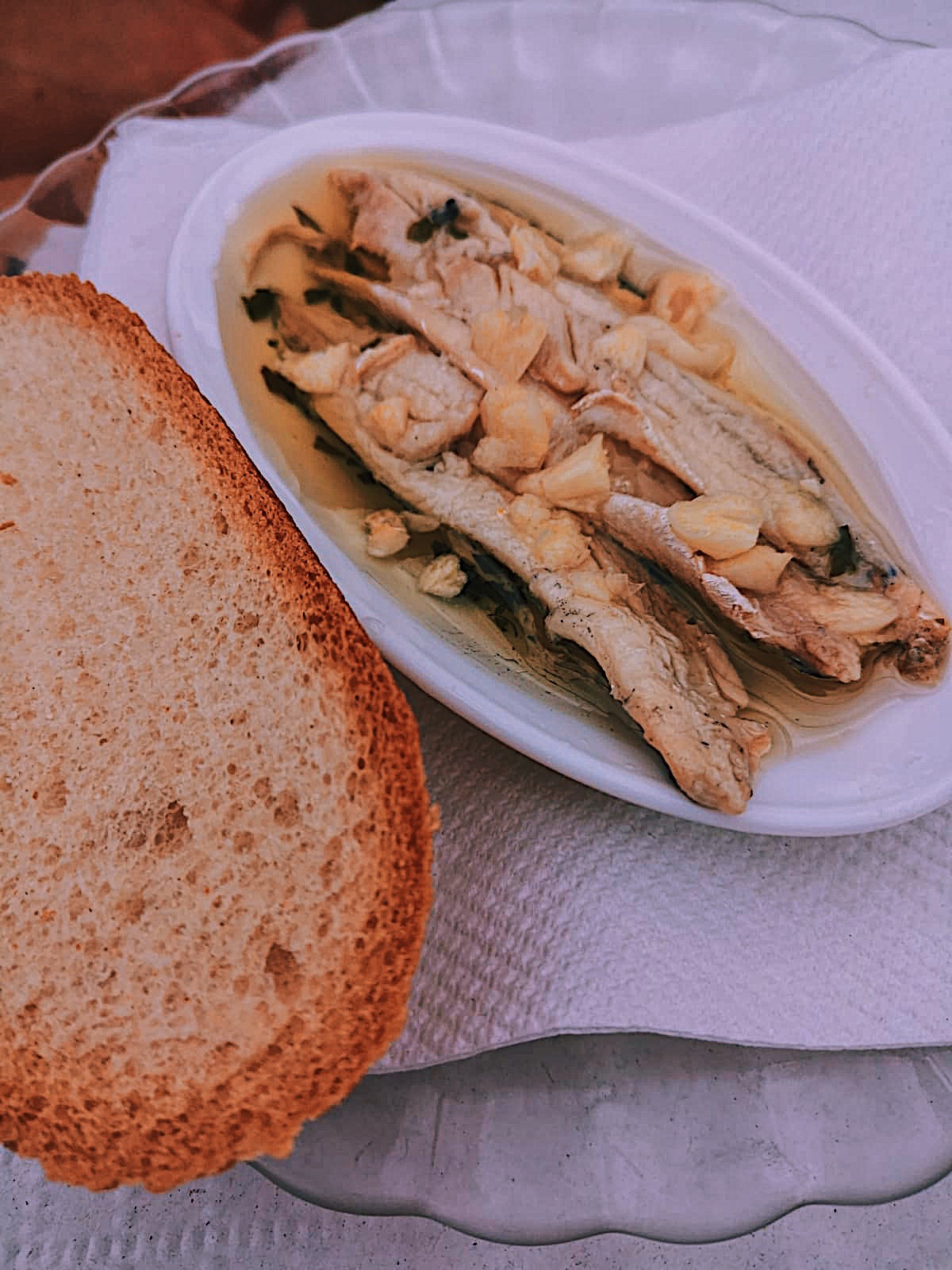 Boquerones en Vinagre - Anchovies in vinegar. A typical tapa in the South of Spain.