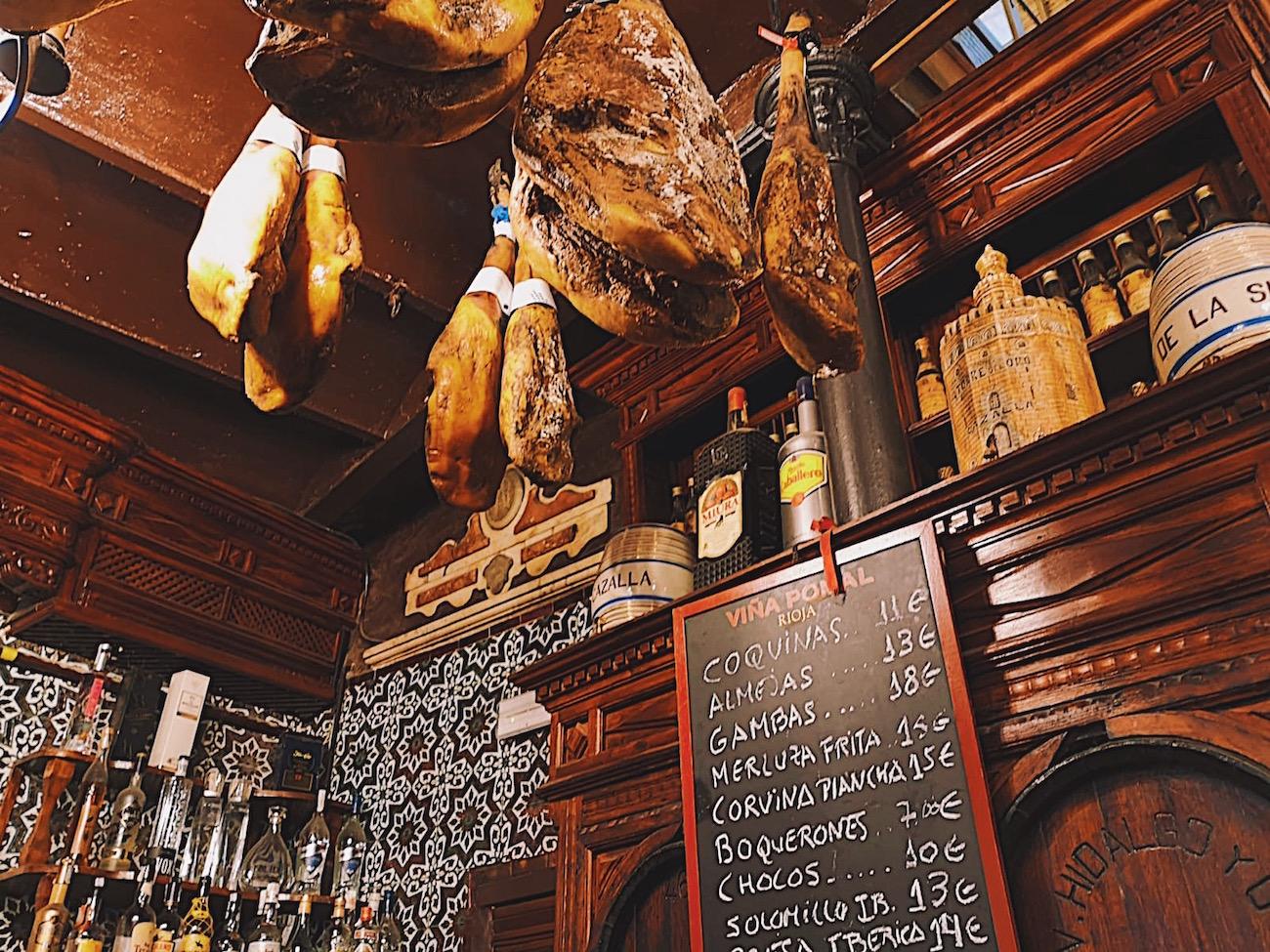 redhead-round-the-world-blogger-food-foodie-foodblog-spain-el-rinconcillo-inside-jamon-menu.JPG