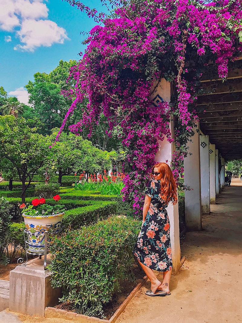 redhead-round-the-world-seville-sevilla-flowers-maria-louisa-park.JPG
