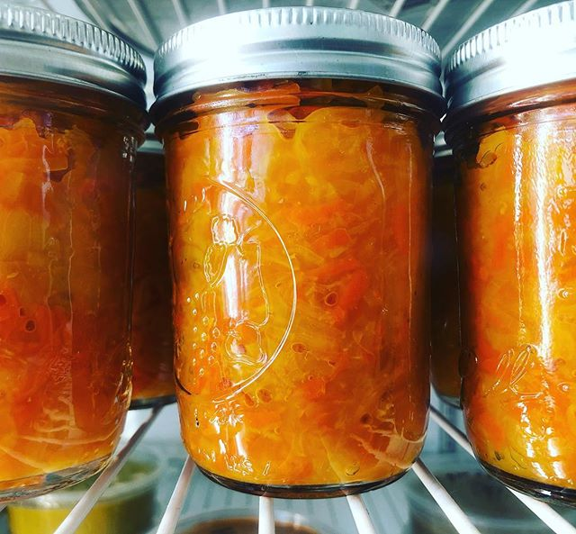 Have you tried our house made kraut yet? It's cell tingling amazing! This batch is made with Cabbage, Carrot, Ginger, Turmeric, Garlic, and Peppercorn. Take a jar home or even get a side with your sammie! ❤️ #foodmagic #baltimorevegan #madewithlove #freshveggies #vegan #knowyourfarmerknowyourfood
