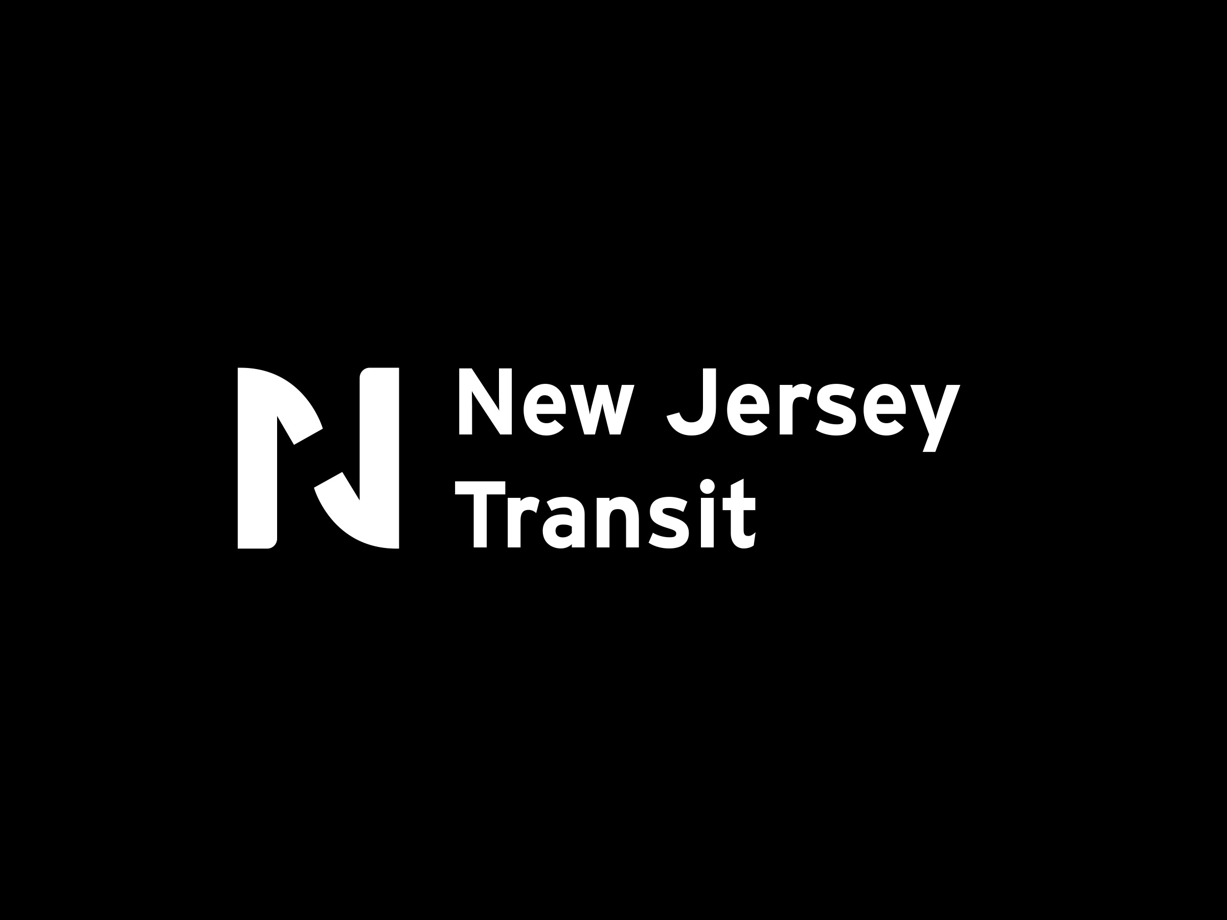 "An ""N"" and ""J"" ligature symbolizing the transit's core function of connecting and transporting"