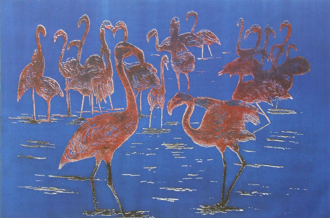 flamingos etching - Linda Nevill small file.jpg