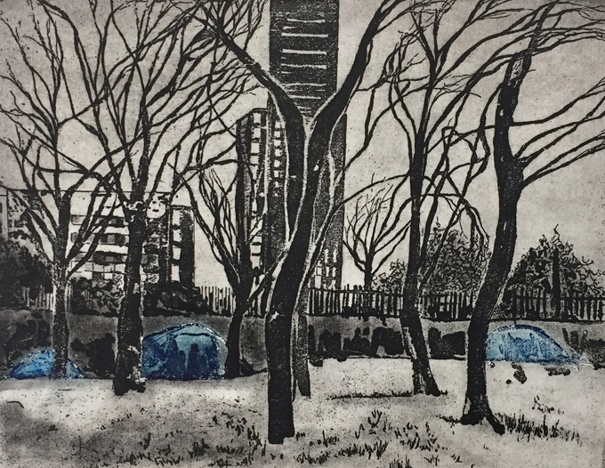 Blue tents - etching - LindaNevillx.jpg
