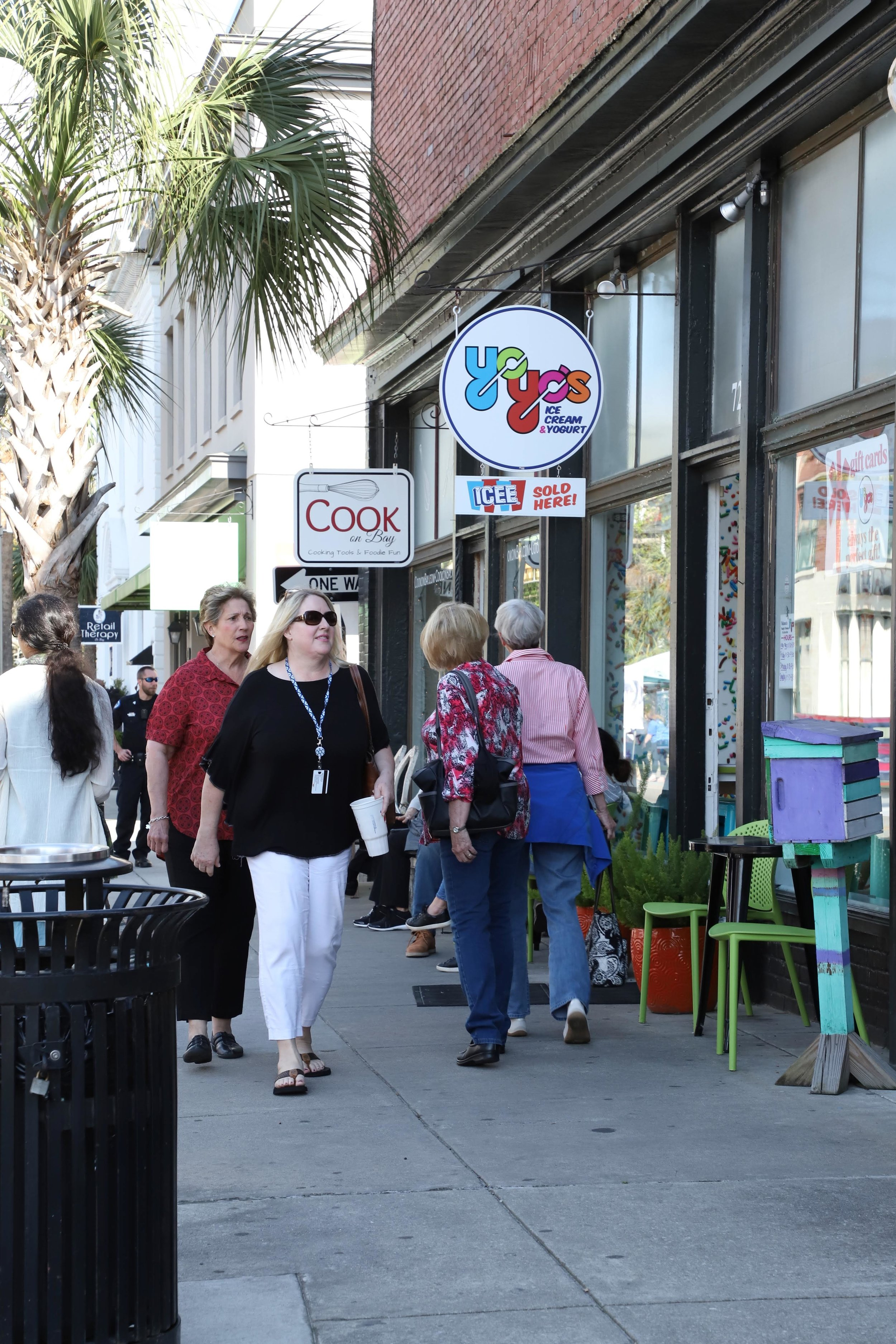 Strolling along the stores in Downtown Beaufort, SC