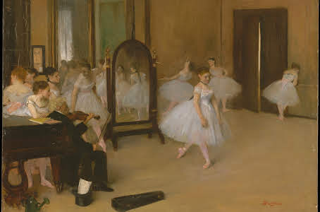 The Dancing Class--Degas