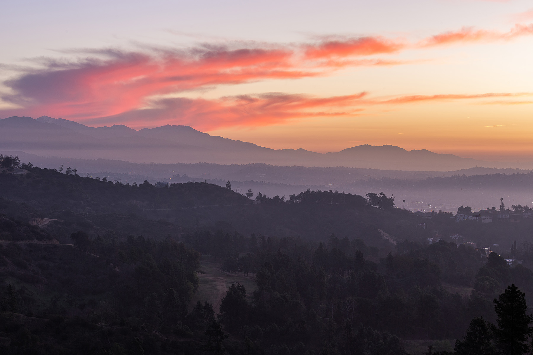 """Sweeping Sunrise over Griffith Park"" - Los Angeles, CA"