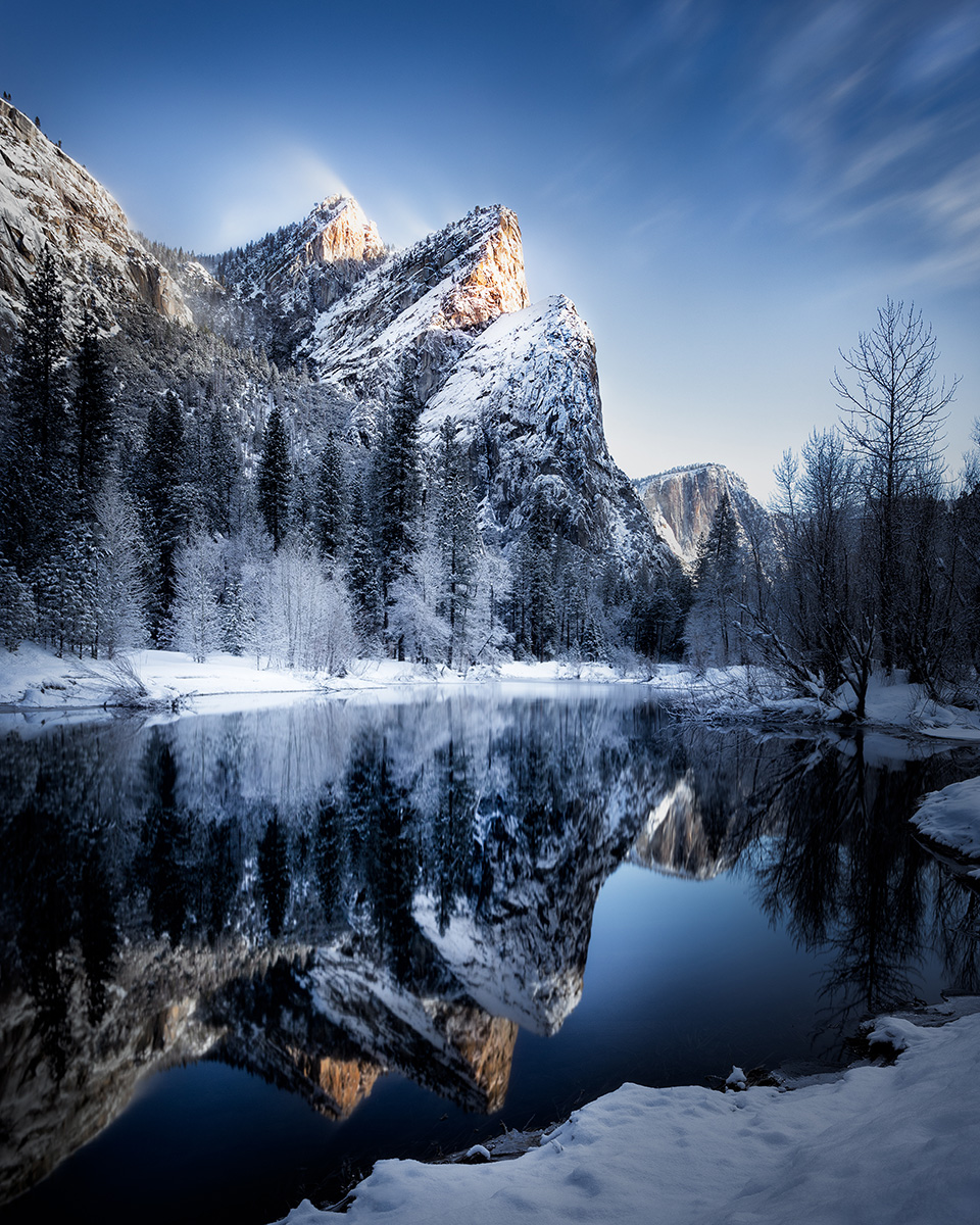 """Three Brothers at Dawn"" - Yosemite National Park, CA"